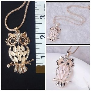 Jewelry - Sparkling Owl Crystal Necklaces